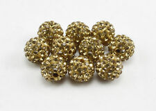 WHOLESALE 10mm Crystal Clay Disco Ball for Shamballa Bracelet Beads UK Fast Serv