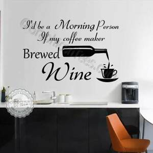 Kitchen Wall Stickers Funny Fun Wine Quotes Home Vinyl Wall Art Decor Decal