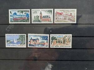 Briefm. France - 1961/1970  Postfrisch Landschaften 6 Marken, günstig