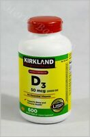 Kirkland Signature Extra Strength D3 50 mcg (2000iu) 600 Softgels Exp: 02/2023