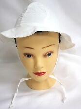 Water Wear Sun Hat I Swim Safely White Infant 6 to 18 Months Upf 50 New