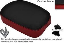 BLACK & DARK RED CUSTOM FITS  TRIUMPH AMERICA BONNEVILE SQUARE REAR SEAT COVER