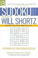 Sudoku Easy To Hard Will Shortz New Book Puzzle Numbers Wordless