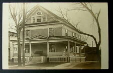 Old New England Rppc Postcard Beautiful Old House Real Photo #44fdx