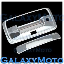 14-16 GMC Sierra 1500 Triple Chrome Tailgate Handle+Keyhole+Camera hole Cover