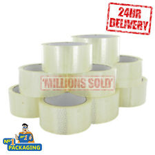 72 ROLLS STRONG CLEAR PARCEL PACKING PACKAGING TAPE SELLO 50mmx 66m **24 HOUR