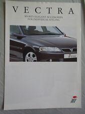 Opel Vectra iLine Styling brochure Oct 2001 English text