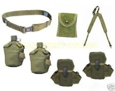 US Military LOT 2 Canteens 3 Ammo First Aid Pouches Suspenders Lg PISTOL BELT GC