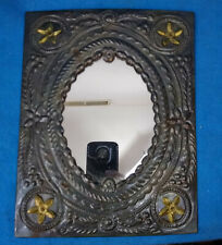 "Vintage Early 1900's 11""x 8.5"" Ceiling Tile Antique with Mirror"