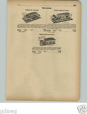 1951 PAPER AD Keystone Toy Talking Bus Terminal Railroad Station