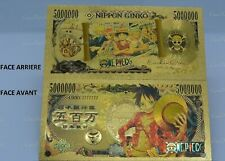 ONE PIECE Banknote Billet 5000000 Yen Japon Or gold Carte Card no Bandai/ NEW!!!