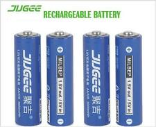 4pcs/lot JUGEE 1.5v AA 3000mwh LI-polymer li-ion lithium rechargeable batteries