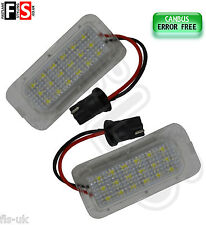 FORD FOCUS/FIESTA/MONDEO NUMBER PLATE LIGHTS WHITE LED 18SMD CANBUS ERROR FREE