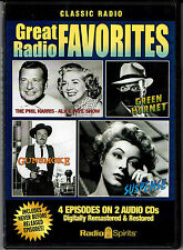"""Great Radio Favorites"" oldtime radio shows, 2 audio CD's, 2 hours, 4 episodes"