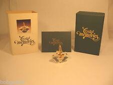Swarovski Crystal Memories Small Glass Basket Figurine Goldtone Handle Flowers