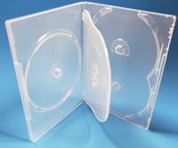 "1 Brand New Standard Clear Multi Five 5 Discs DVD/CD/PC Media Case, 1/2"" 14mm"