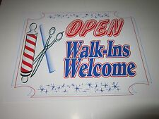 "Barber Shop-Retail SIgn-High Definition printed-Plastic Laminated-8.5""Hx11""W"