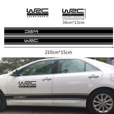 1 Pair Auto Car Side Door Body WRC Graphics Decals Decoration Sticker Waterproof