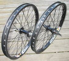 "Wheel Set 20"" BMX Park Front 3/8 and 9T 3/8 Rear Axle Double Walled Rims"