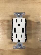 Leviton T5632-BT 15-Amp USB Charger/Tamper Resistant Duplex Light Almond