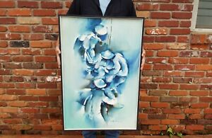 VTG Fine Art Oil Painting on Canvas Abstract Fisherman Signed Roger San Miguel