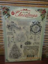 Card Paper Craft Card Making Silicone Rubber Ink Stamps - Classic Christmas