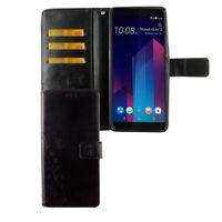 HTC U12+ Plus Funda Estuche Móvil Protector Flip Negro