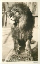 El Monte California Gays Lion Farm RPPC Real photo postcard 10034