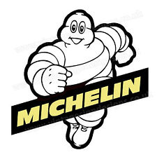 "MITCHELIN TYRES DIGITALLY CUT OUT VINYL STICKER. 4"" X 4"" OVERALL SIZE  CODE 3"
