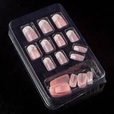 24pcs Pink Series Full Sizes Nail Art Design Nail Tips