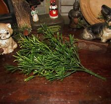 """Primitive 13"""" Green Floral Asparagus Bush Artificial Plants Fake Foliage Pick"""