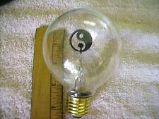 WORKING YING YANG Light Bulb & LAMP BASE+cord AEROLUX STYLE NEON bulb