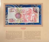 Most Treasured Banknotes Ghana 1978 10 Cedis P-16f UNC Prefix C/2