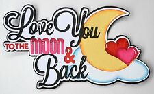 CrafteCafe Paper Piecing Love you Title for Premade Scrapbook Page Valentines