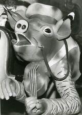 France Merry Go Round Fairground Ride Detail Pig & Violin Old Photo 1960