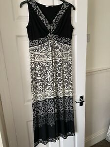 Black And White Maxi Dress Size 16 By Bhs