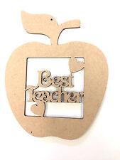 Best Teacher Apple Gift Present Thank You, Blank MDF Craft shape Pack Of 5