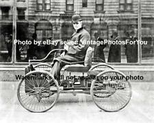 Old Antique Vintage 1896 Founder Ford Motor Henry Ford Quadricycle Car Photo