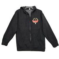 Nutcracker 15th Anniversary Sweat Shirt Hoodie Womens Size L Large Gray Full Zip