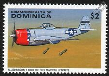 Republic P-47 THUNDERBOLT Fighter Bomber WWII Aircraft Stamp
