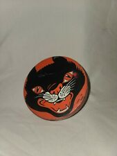 Vintage Antique Halloween Spinner Toy Noisemaker / Noise Maker Tin Black Cat