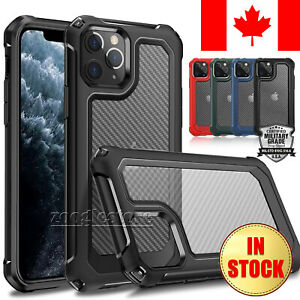 For iPhone 12 11 Pro Max 12 Mini Case Genuine Carbon Matte Cover Shockproof 360