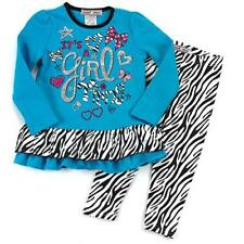"NEW ""IT'S A GIRL THING"" Zebra Pants Girls 4 Clothes Fall/Winter Kids Outfits"