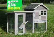Cage pour lapin cochon d'inde furet rat chinchilla tortue en bois Réf. AS4492