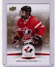 BRIANNE JENNER 14/15 Upper Deck Women's Team Canada Juniors #74 Gold Sepia