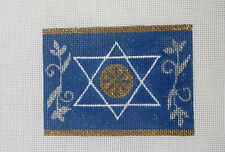 New ListingHandpainted Needlepoint Canvas Funda Scully Judaic Star of David Rollup Fs-20K
