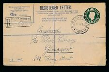 Poland Ww2 1946 Registered Stationery Fpo 124 to Polish Library Glasgow