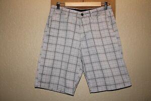 "VOLCOM Mens 30"" Waist plaid chino shorts Combine ship Discount"