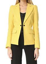 Smythe Mildred Classic Duchess linen yellow Peak lapel blazer jacket 4