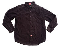 Element Long Sleeve Pearl Snap Button Up Corduroy Shirt Brown Size Medium Skate